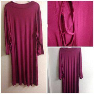 Sale Burgundy Dress Peekaboo Sides Plus 1X- 3X